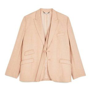 Stella McCartney Candle Rose Felisha Linen Blazer